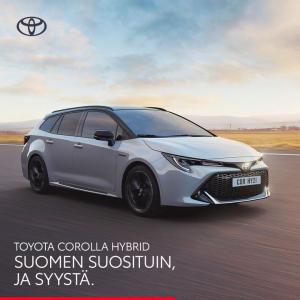 Corolla-mallistoon Hybridipaketti 590 €. Sisältää talvirenkaat, tavaratilan suojapohjan ja kumimattosarjan.  Nyt suosikkimallia ...