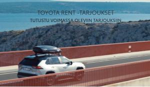 Autoja vuokralle:  Toyota Yaris Hybrid 40 €/vrk (bensa/automaatti) Toyota Proace City 50 €/vrk (diesel/manuaali) Toyota Proace p...