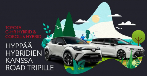 Kun matka on yhtä tärkeä kuin määränpää. Nyt Corolla-mallistoon Hybridipaketti 0 € ja C-HR-mallistoon 990 €.